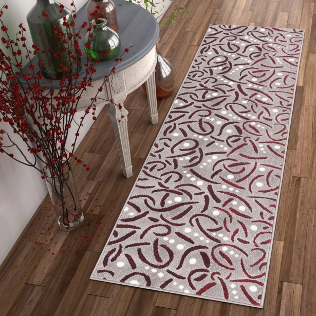 Hilary Red Area Rug Rug Size: Runner 2' x 7'3