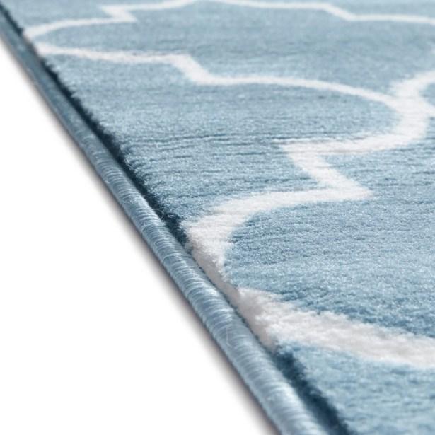 Ruark Modern Blue Geometric Trellis Area Rug Rug Size: 9'3'' x 12'6''