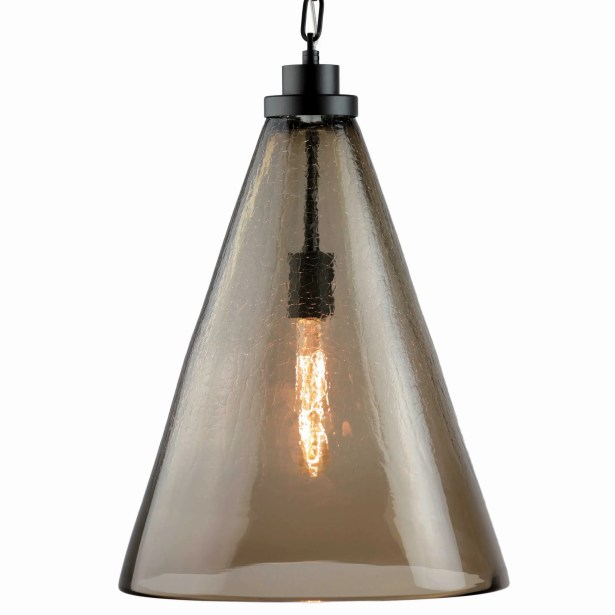 1-Light Cone Pendant Shade Color: Walnut Brown