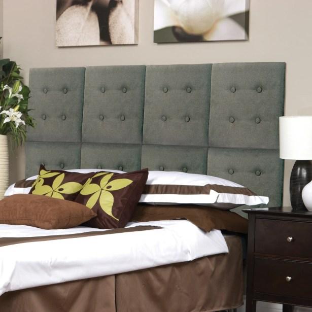 Luxe Panel Upholstered Headboard Upholstery: Tweed Gray