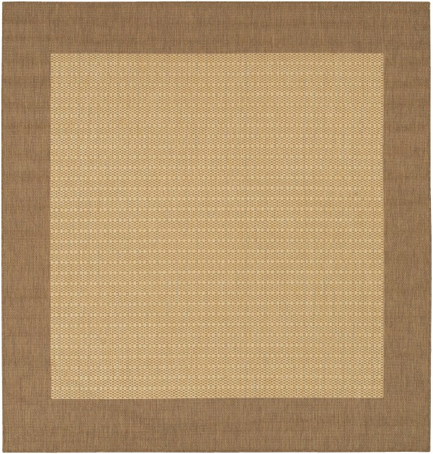 Klaus Checkered Field Brown Indoor/Outdoor Area Rug Rug Size: Square 8'6