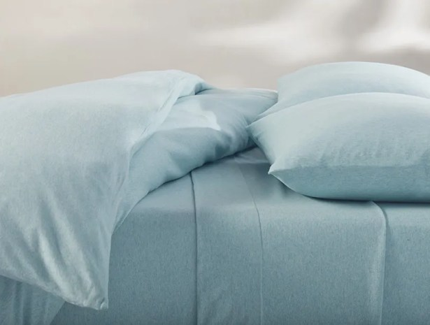 Jersey 100% Cotton Sheet Set Color: Blue Heather, Size: Twin XL