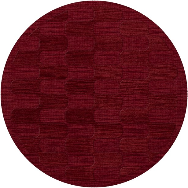 Dover Rich Red Area Rug Rug Size: Round 6'