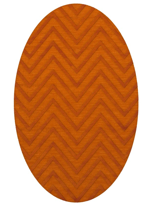 Dover Tufted Wool Orange Area Rug Rug Size: Oval 12' x 15'