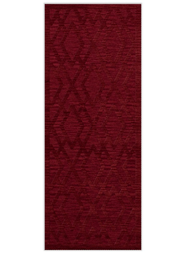 Dover Tufted Wool Rich Red Area Rug Rug Size: Runner 2'6