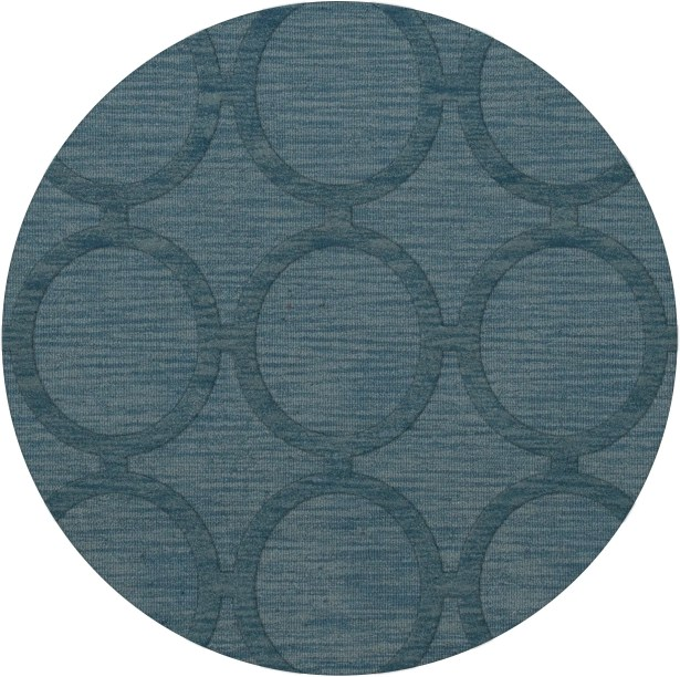 Dover Tufted Wool Sky Area Rug Rug Size: Round 4'