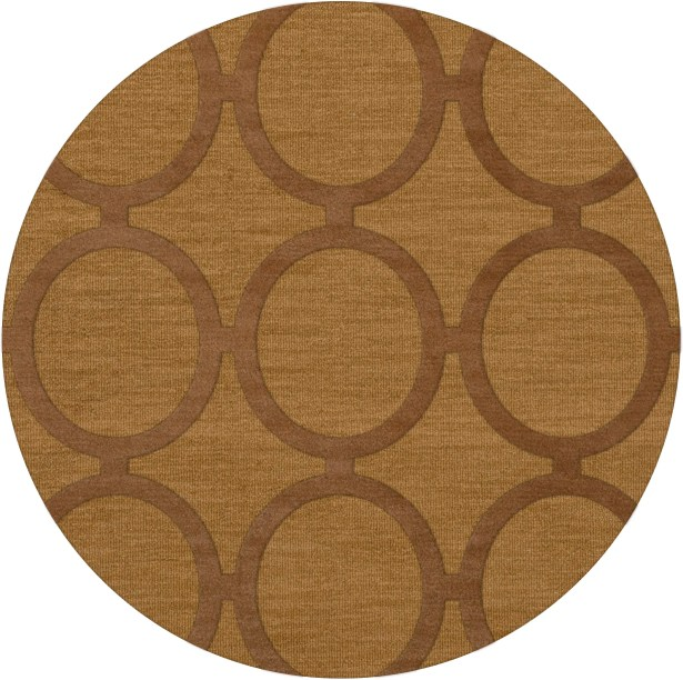 Dover Tufted Wool Gold Dust Area Rug Rug Size: Round 4'