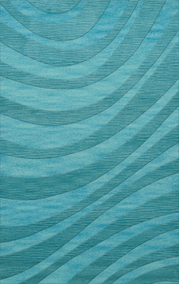 Dover Tufted Wool Peacock Area Rug Rug Size: Rectangle 10' x 14'