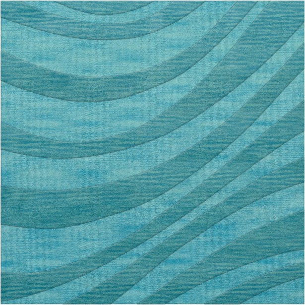 Dover Tufted Wool Peacock Area Rug Rug Size: Octagon 10'