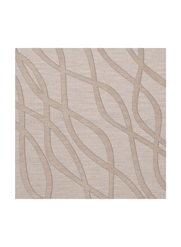 Dover Tufted Wool Putty Area Rug Rug Size: Square 8'
