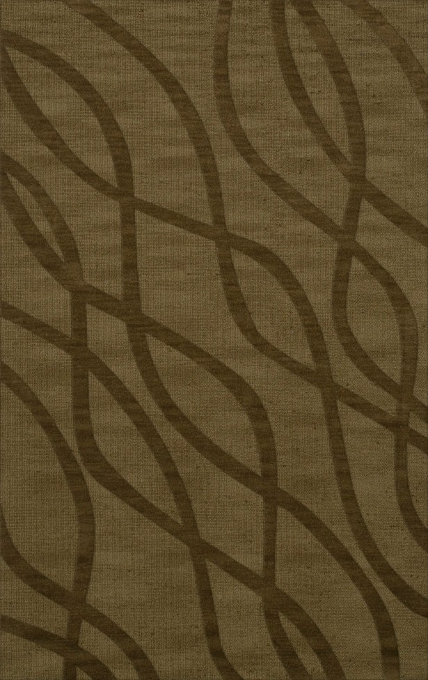 Dover Tufted Wool Leaf Area Rug Rug Size: Rectangle 6' x 9'