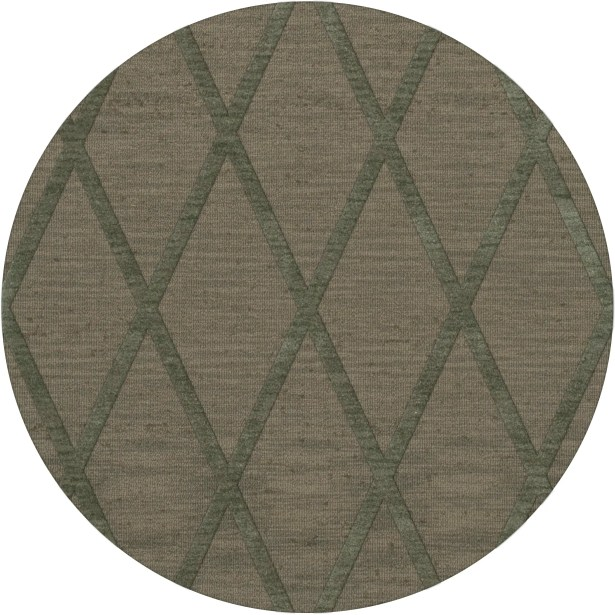 Dover Tufted Wool Aloe Area Rug Rug Size: Round 6'