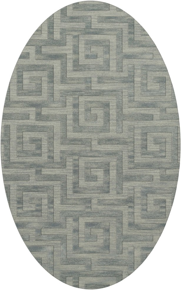 Dover Tufted Wool Sea Glass Area Rug Rug Size: Oval 4' x 6'