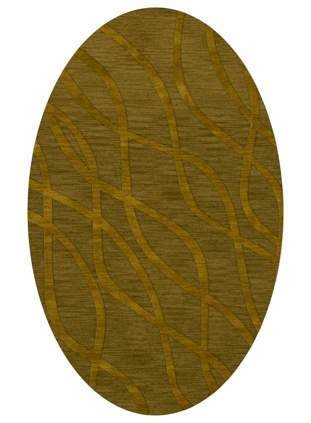 Dover Tufted Wool Avocado Area Rug Rug Size: Oval 6' x 9'