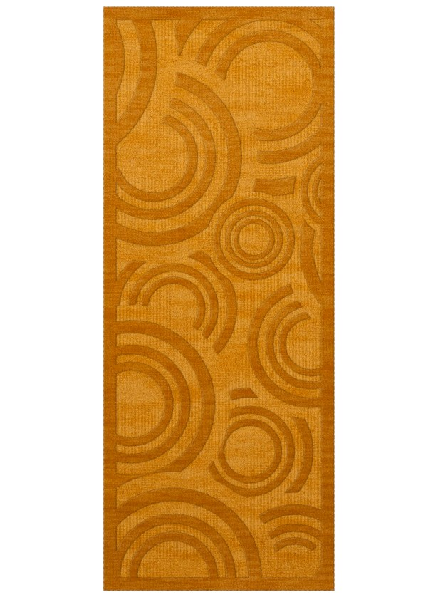 Dover Tufted Wool Butterscotch Area Rug Rug Size: Runner 2'6