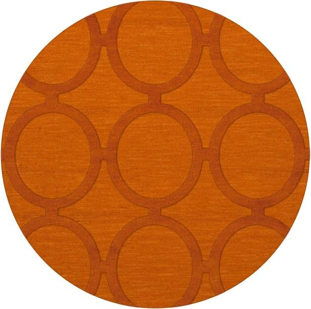 Dover Orange Area Rug Rug Size: Round 4'