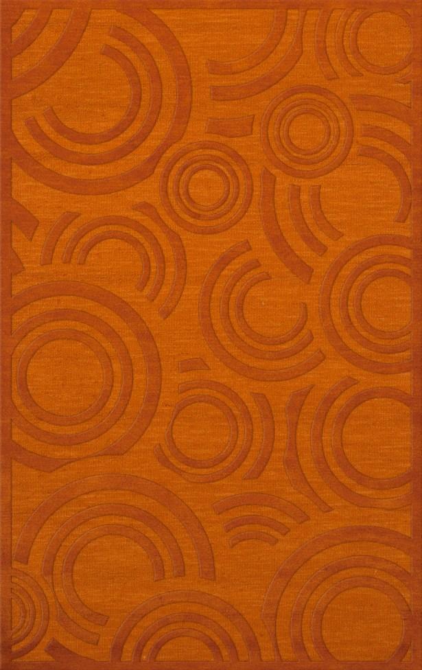 Dover Tufted Wool Orange Area Rug Rug Size: Rectangle 3' x 5'