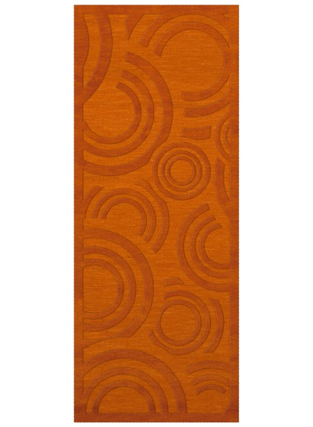 Dover Tufted Wool Orange Area Rug Rug Size: Runner 2'6