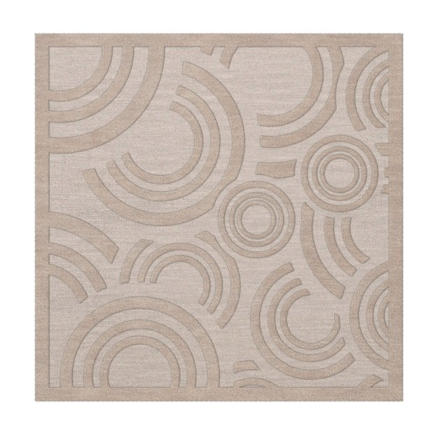 Dover Tufted Wool Putty Area Rug Rug Size: Square 4'