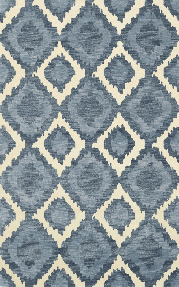 Bella Machine Woven Wool Blue Area Rug Rug Size: Rectangle 12' x 15'