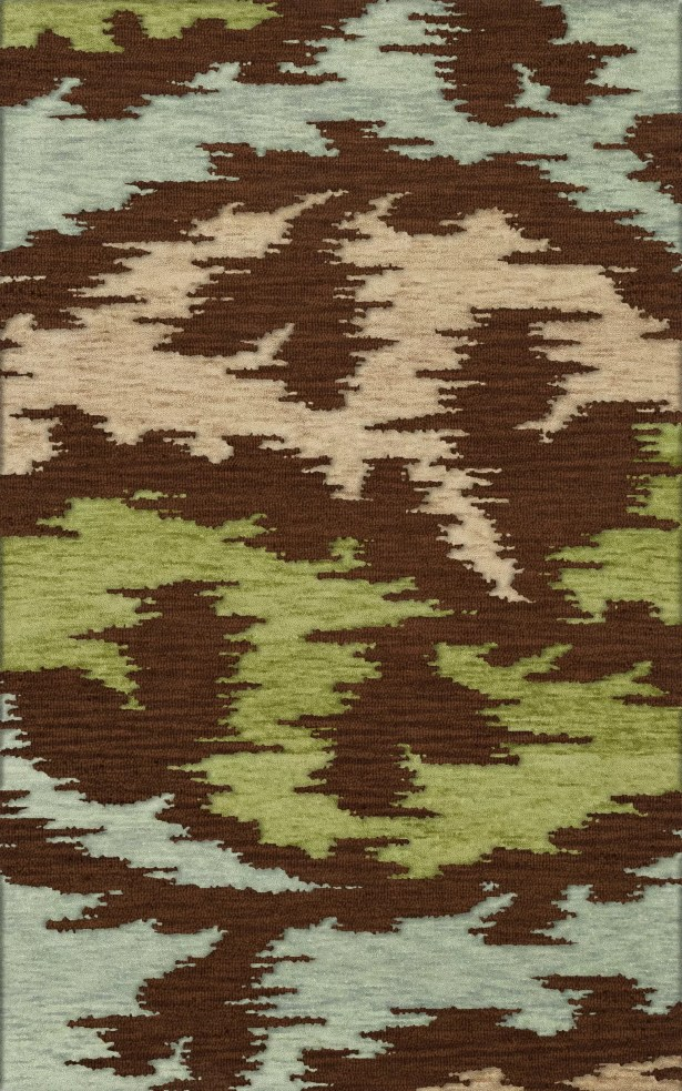 Bella Brown,Green,Gray Area Rug Rug Size: Oval 8' x 10'