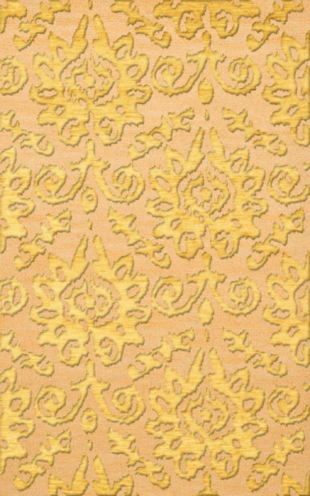 Bella Machine Woven Wool Beige/Yellow Area Rug Rug Size: Rectangle 9' x 12'