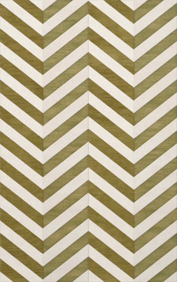 Shellenbarger Wool Herb/White Area Rug Rug Size: Rectangle 6' x 9'