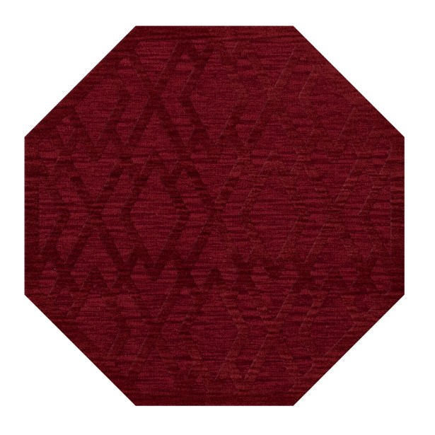 Dover Tufted Wool Rich Red Area Rug Rug Size: Octagon 12'