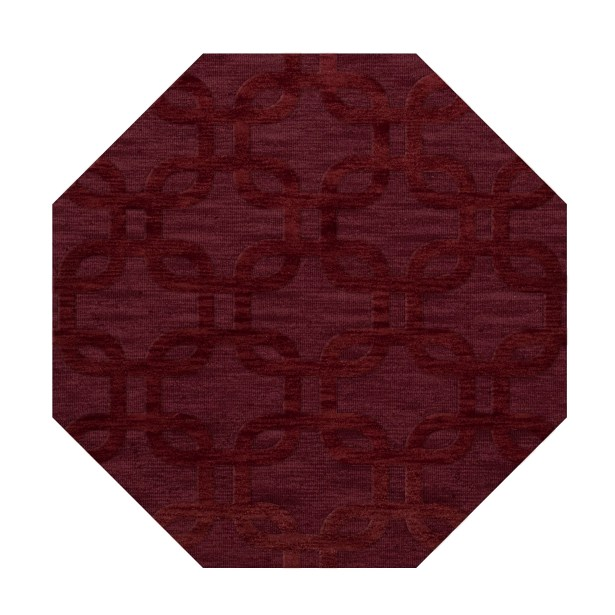 Dover Burgundy Area Rug Rug Size: Octagon 12'