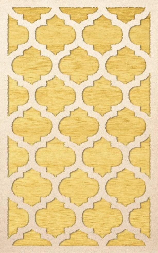 Bella Machine Woven Wool Yellow Area Rug Rug Size: Rectangle 5' x 8'