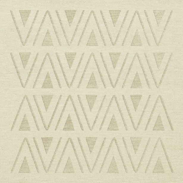 Bella Machine Woven Wool White Area Rug Rug Size: Square 8'