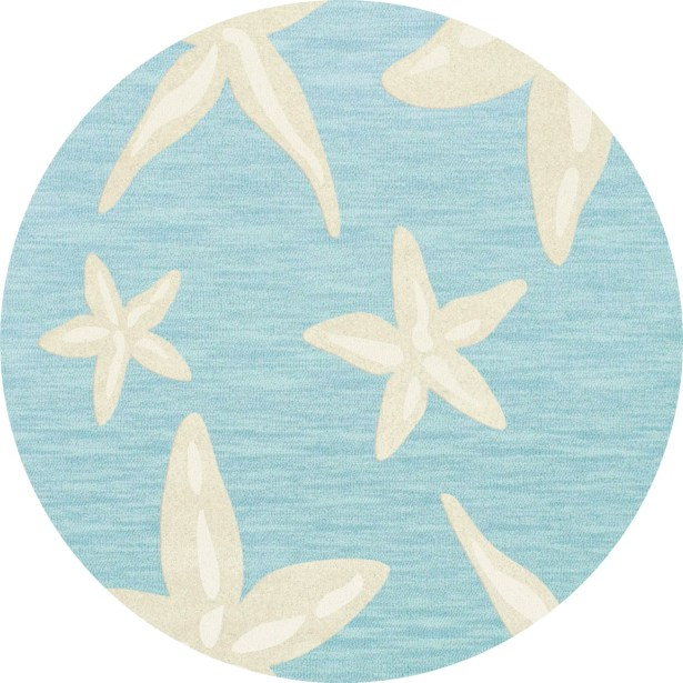 Bella Blue/Beige Area Rug Rug Size: Round 12'