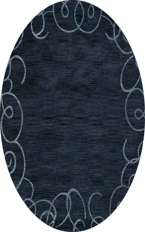 Bella Blue Area Rug Rug Size: Oval 9' x 12'