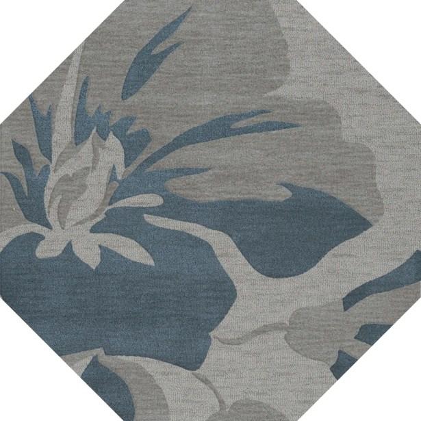 Bella Gray Area Rug Rug Size: Octagon 12'