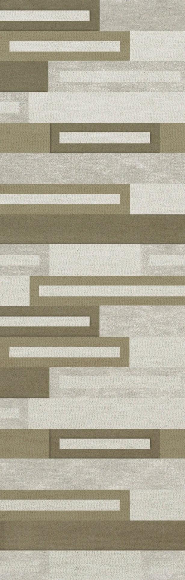 Bella Machine Woven Wool Gray/ Brown Area Rug Rug Size: Runner 2'6