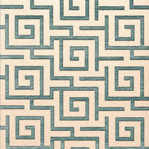 Bella Machine Woven Wool Beige/Gray Area Rug Rug Size: Square 12'