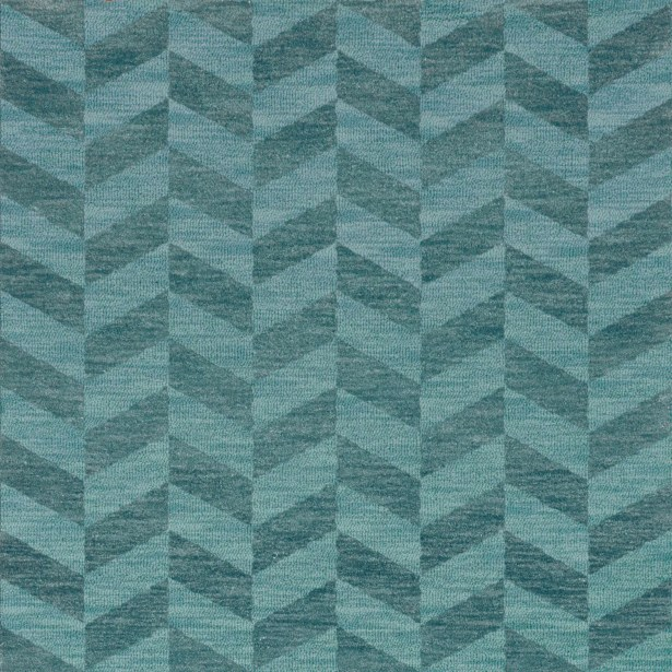Bella Machine Woven Wool Blue Area Rug Rug Size: Square 10'