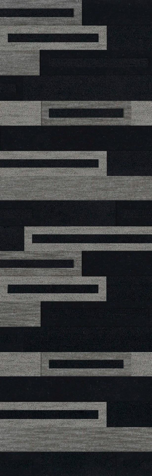 Bella Machine Woven Wool Black/Gray Area Rug Rug Size: Runner 2'6