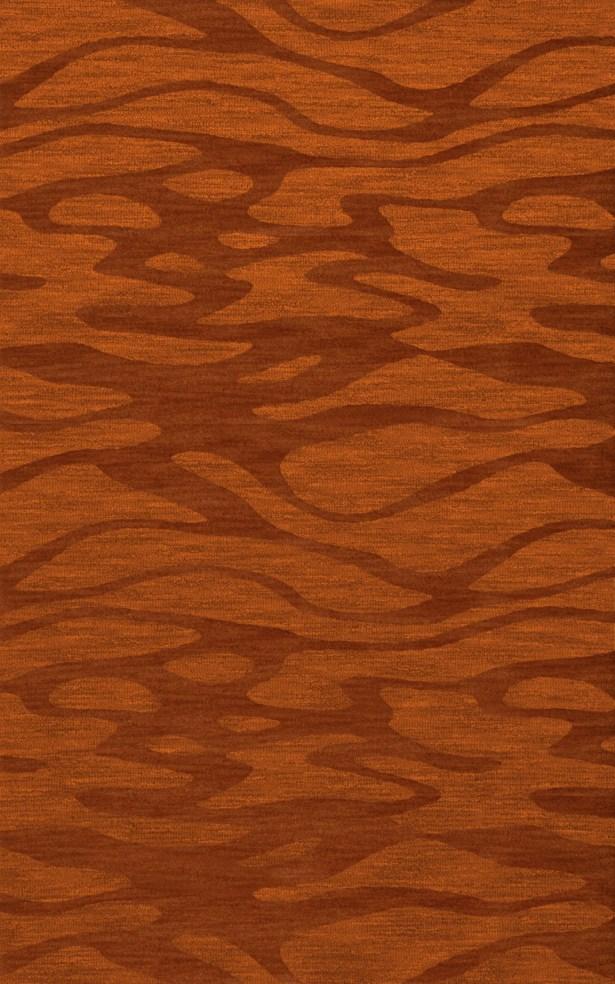 Bella Rust/Orange Area Rug Rug Size: Rectangle 5' x 8'