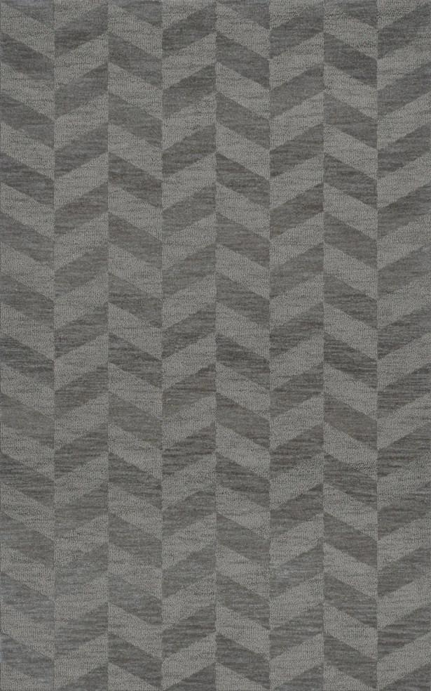 Bella Machine Woven Wool Gray Area Rug Rug Size: Rectangle 3' x 5'
