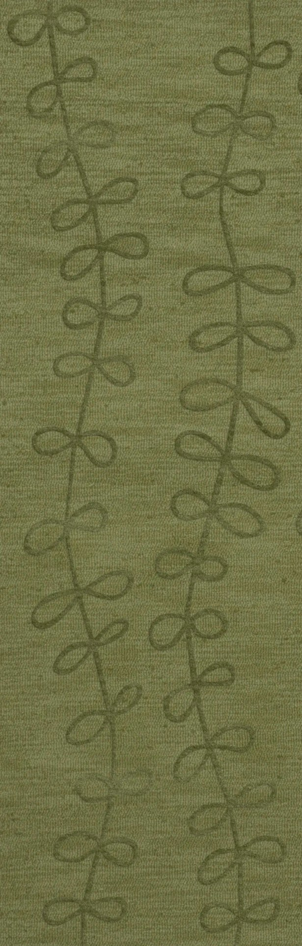 Bella Machine Woven Wool Green Area Rug Rug Size: Runner 2'6