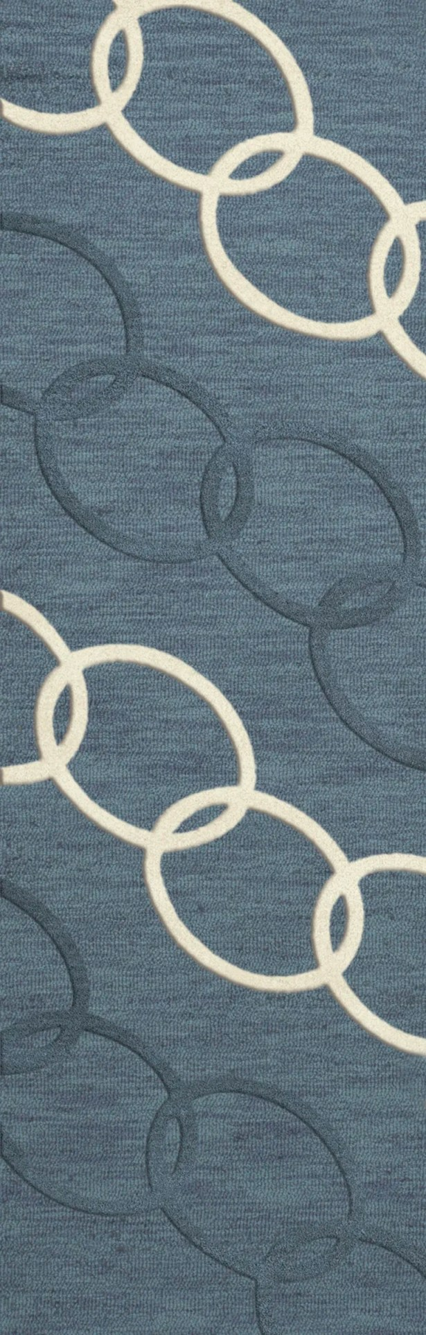 Bella Machine Woven Wool Blue Area Rug Rug Size: Runner 2'6
