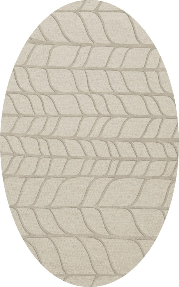 Bella Machine Woven Wool Gray Area Rug Rug Size: Oval 4' x 6'