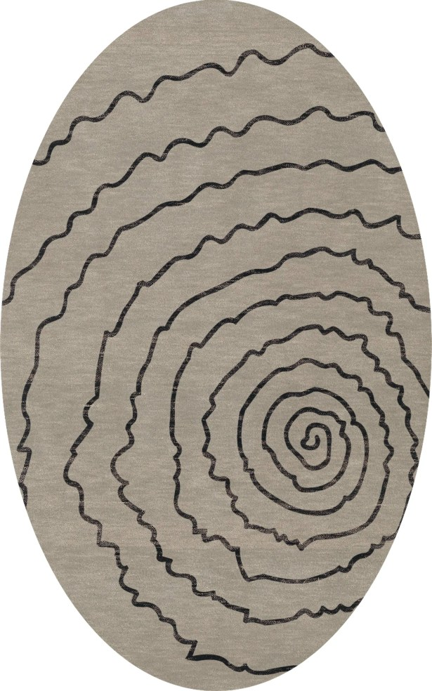 Bella Gray Area Rug Rug Size: Oval 9' x 12'