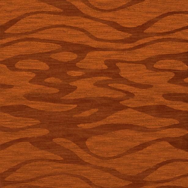 Bella Rust/Orange Area Rug Rug Size: Square 6'