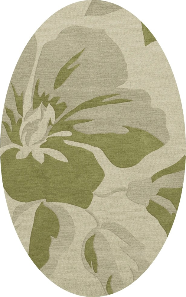 Bella Green Area Rug Rug Size: Oval 10' x 14'