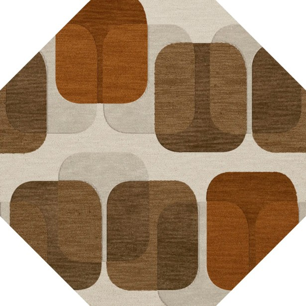 Bella Brown Area Rug Rug Size: Octagon 10'