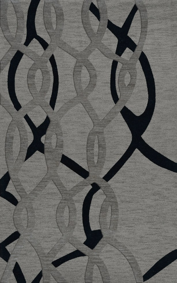 Bella Machine Woven Wool Gray Area Rug Rug Size: Rectangle 6' x 9'