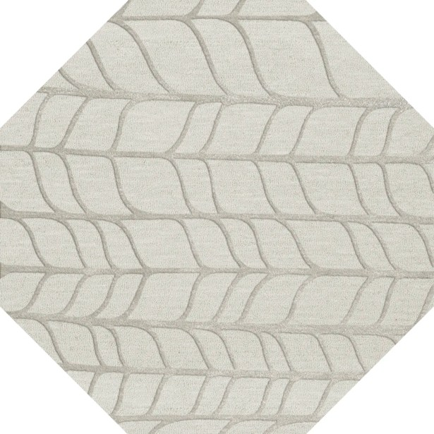 Bella Gray Area Rug Rug Size: Octagon 10'