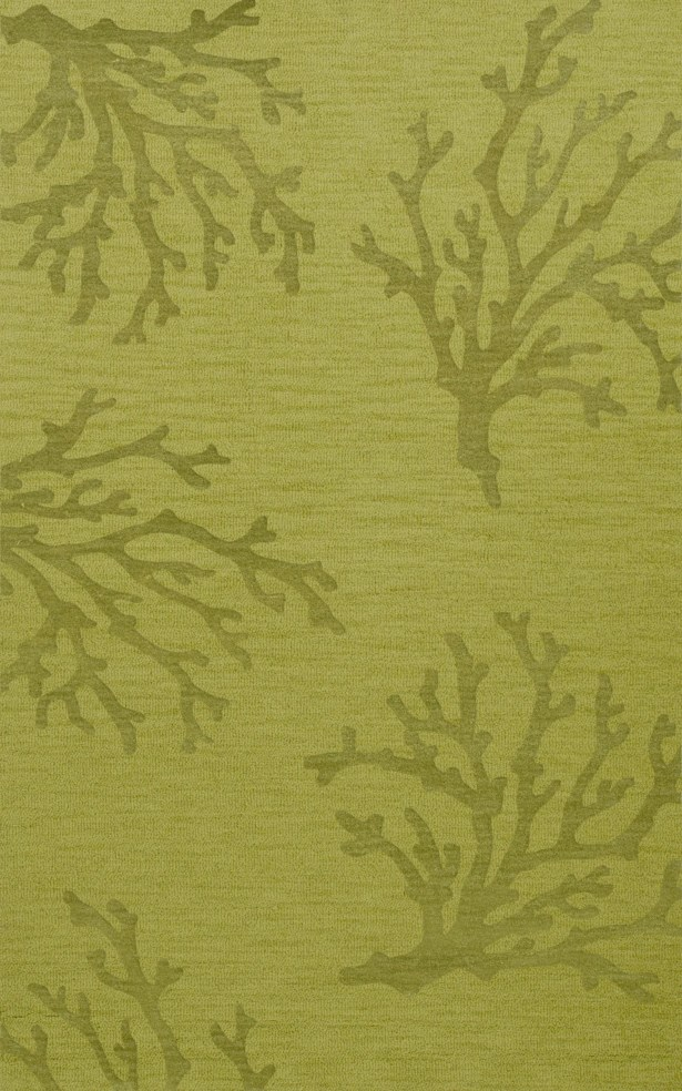 Bella Green Area Rug Rug Size: Rectangle 6' x 9'